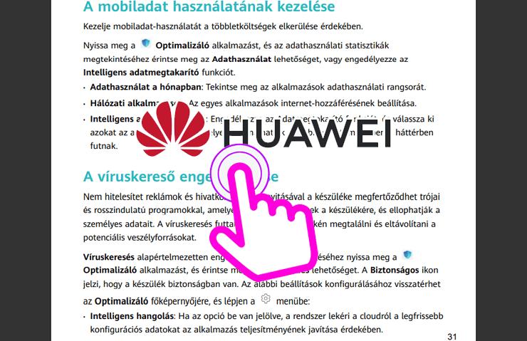 Huawei útmutatók