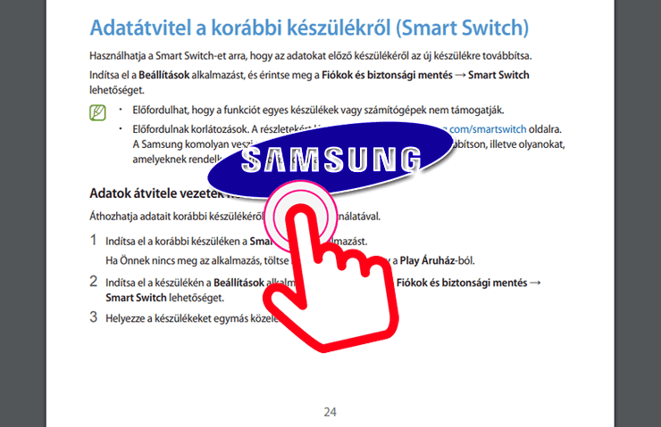 Samsung útmutatók